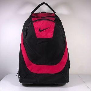 Nike Luggage Bag Backpack On Rollers Pink Black